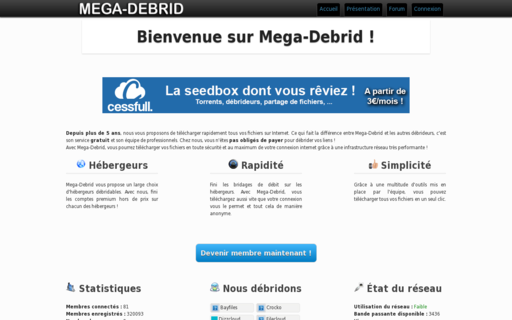 Access mega-debrid.eu using Hola Unblocker web proxy