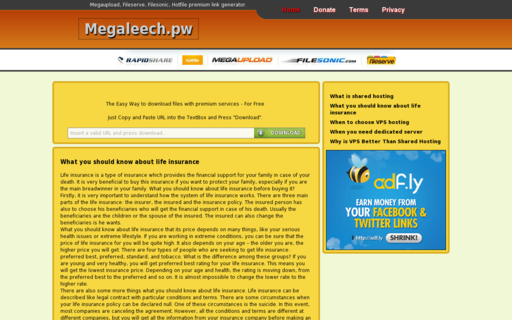 Access megaleech.pw using Hola Unblocker web proxy