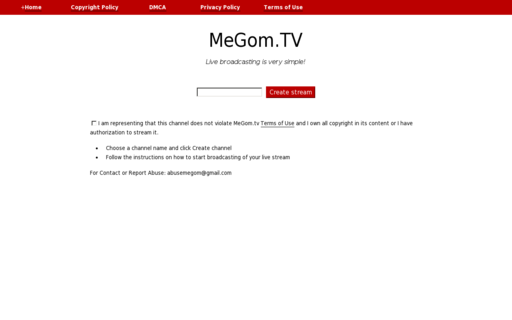 Access megom.tv using Hola Unblocker web proxy