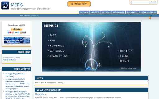 Access mepis.org using Hola Unblocker web proxy