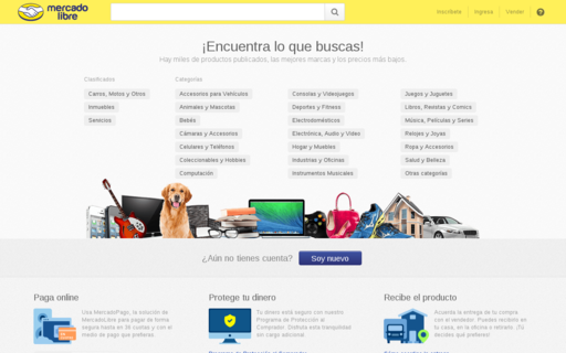 Access mercadolibre.com.co using Hola Unblocker web proxy