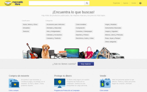 Access mercadolibre.com.ec using Hola Unblocker web proxy