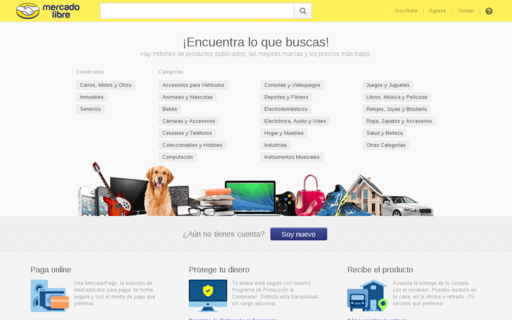 Access mercadolibre.com.ve using Hola Unblocker web proxy