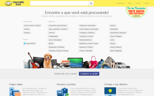 Access mercadolivre.com.br using Hola Unblocker web proxy