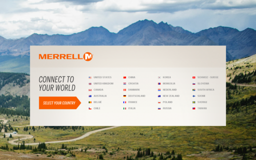 Access merrell.com using Hola Unblocker web proxy