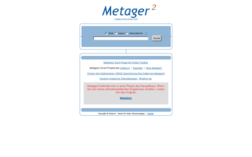 Access metager2.de using Hola Unblocker web proxy