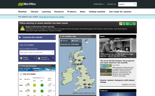 Access metoffice.gov.uk using Hola Unblocker web proxy