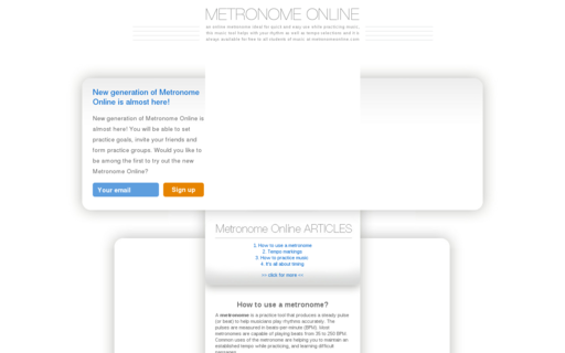 Access metronomeonline.com using Hola Unblocker web proxy
