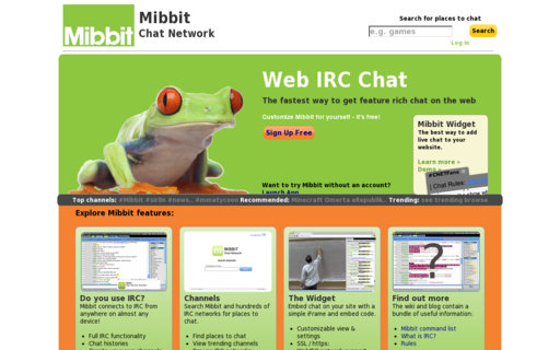 Access mibbit.com using Hola Unblocker web proxy