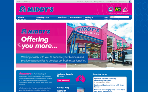 Access middys.com.au using Hola Unblocker web proxy