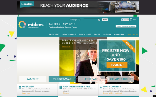 Access midem.com using Hola Unblocker web proxy