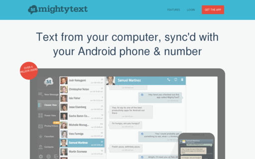 Access mightytext.net using Hola Unblocker web proxy