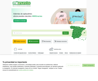 Access milanuncios.com using Hola Unblocker web proxy