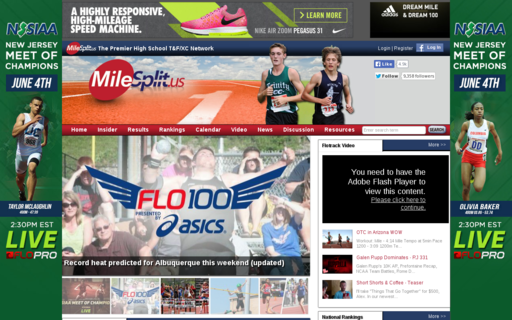 Access milesplit.com using Hola Unblocker web proxy