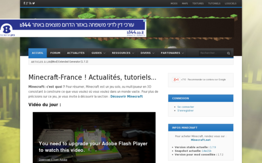 Access minecraft-france.fr using Hola Unblocker web proxy