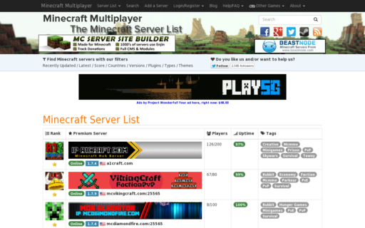 Access minecraft-mp.com using Hola Unblocker web proxy