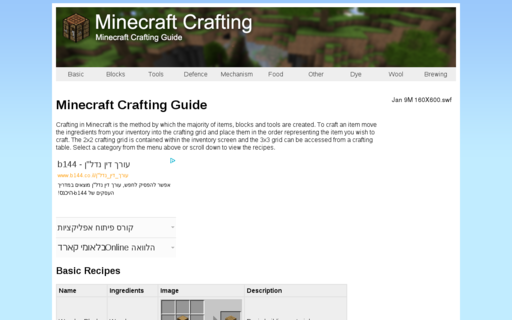 Access minecraftcrafting.info using Hola Unblocker web proxy
