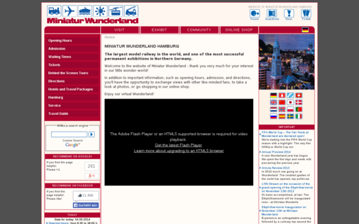 Access miniatur-wunderland.com using Hola Unblocker web proxy