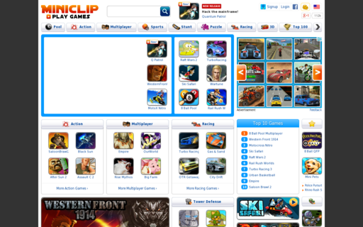 Access miniclip.com using Hola Unblocker web proxy
