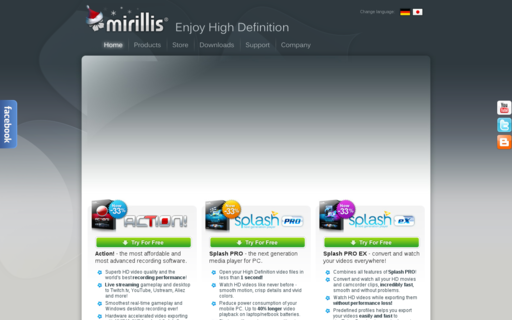 Access mirillis.com using Hola Unblocker web proxy