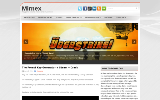 Access mirnex.com using Hola Unblocker web proxy