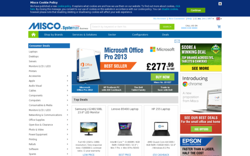 Access misco.co.uk using Hola Unblocker web proxy