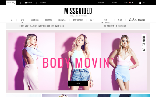 Access missguided.co.uk using Hola Unblocker web proxy