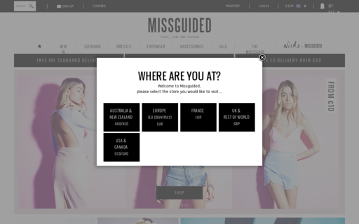 Access missguided.eu using Hola Unblocker web proxy