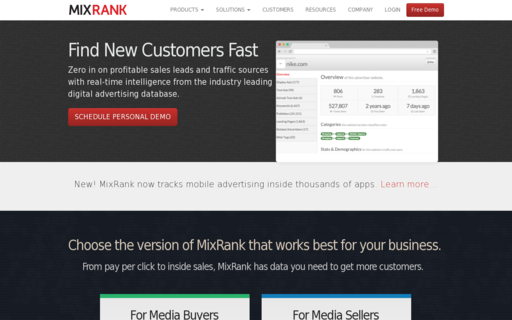 Access mixrank.com using Hola Unblocker web proxy