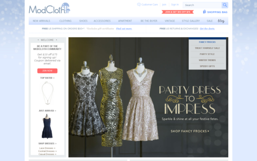 Access modcloth.com using Hola Unblocker web proxy