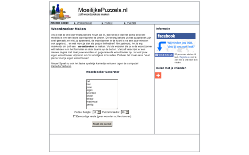 Access moeilijkepuzzels.nl using Hola Unblocker web proxy