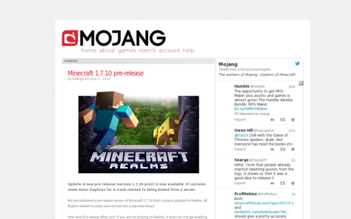 Access mojang.com using Hola Unblocker web proxy