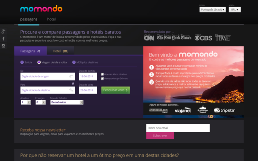Access momondo.com.br using Hola Unblocker web proxy