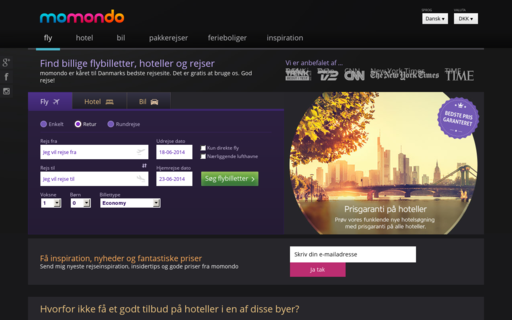 Access momondo.dk using Hola Unblocker web proxy