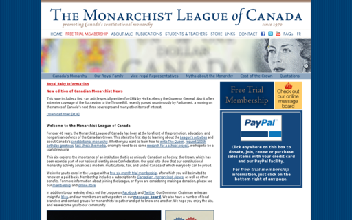 Access monarchist.ca using Hola Unblocker web proxy