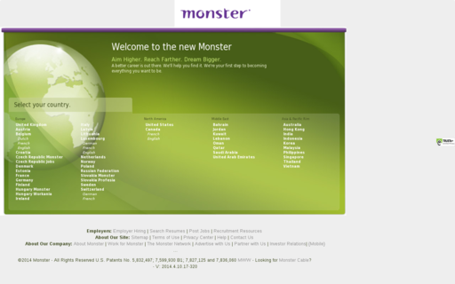 Access monster.com using Hola Unblocker web proxy