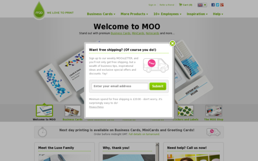 Access moo.com using Hola Unblocker web proxy