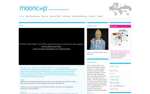 Access mooncup.co.uk using Hola Unblocker web proxy
