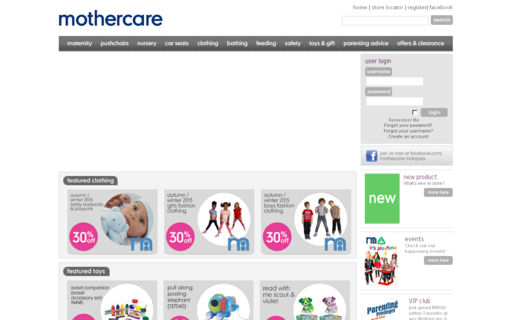 Access mothercare.com.my using Hola Unblocker web proxy