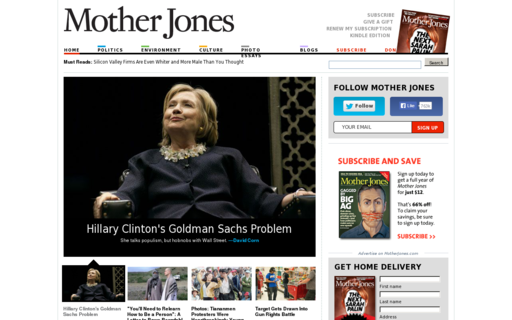 Access motherjones.com using Hola Unblocker web proxy