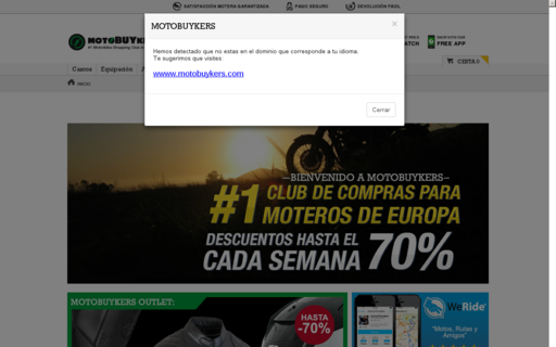 Access motobuykers.es using Hola Unblocker web proxy