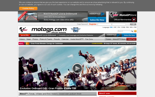 Access motogp.com using Hola Unblocker web proxy