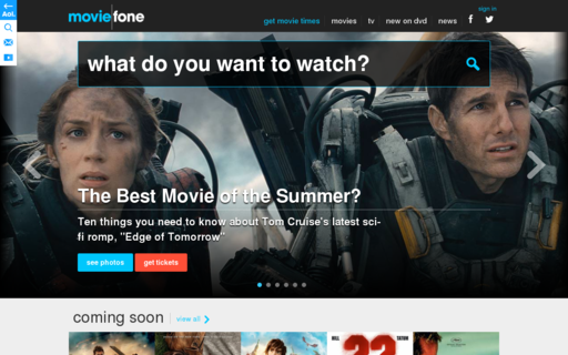 Access moviefone.com using Hola Unblocker web proxy