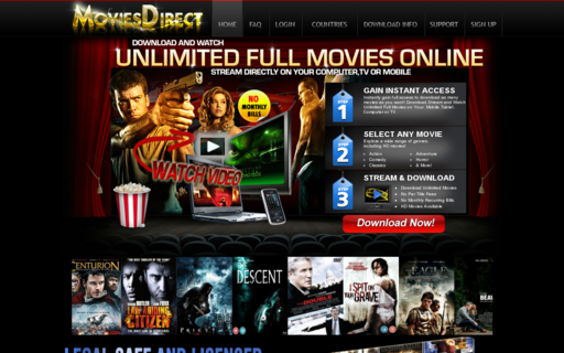 Access moviesdirect.org using Hola Unblocker web proxy
