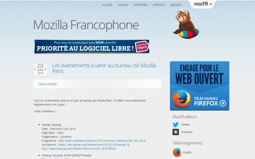 Access mozfr.org using Hola Unblocker web proxy