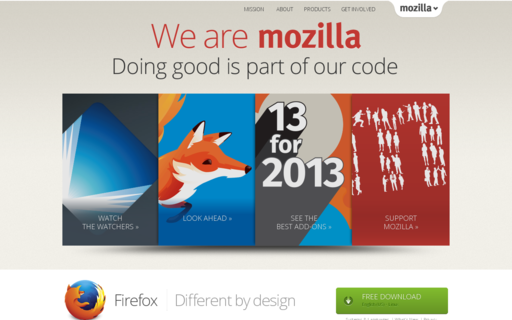 Access mozilla.com using Hola Unblocker web proxy