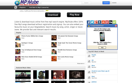 Access mp3vube.com using Hola Unblocker web proxy