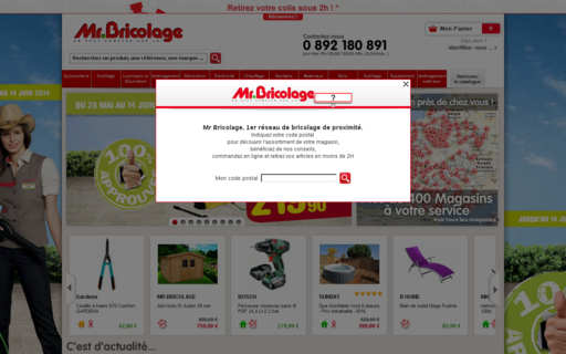 Access mr-bricolage.fr using Hola Unblocker web proxy