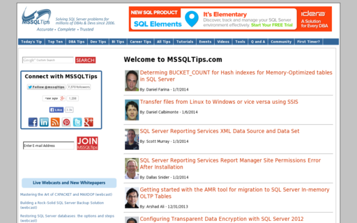 Access mssqltips.com using Hola Unblocker web proxy