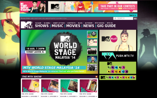 Access mtvasia.com using Hola Unblocker web proxy
